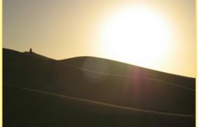 Soleil sur une dune