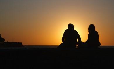 Silhouette d'un couple