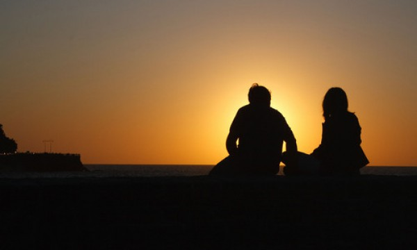 Silhouette d'un couple