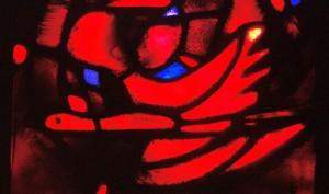 Colombe de l'Esprit Saint, vitrail de Taizé @Taizé