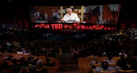 In a video, His Holiness Pope Francis speaks at TED2017 - The Future You, April 24-28, 2017, Vancouver, BC, Canada. Photo: Ryan Lash / TED